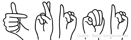 Trimi in Fingersprache für Gehörlose