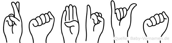 Rabiya im Fingeralphabet der Deutschen Gebärdensprache