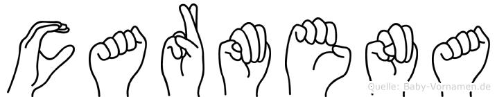 Carmena in Fingersprache für Gehörlose