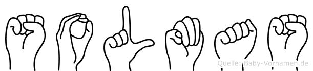 Solmas im Fingeralphabet der Deutschen Gebärdensprache