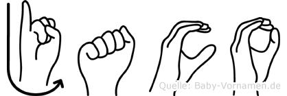 Jaco im Fingeralphabet der Deutschen Gebärdensprache