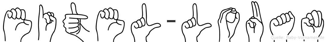 Eitel-Louan im Fingeralphabet der Deutschen Gebärdensprache