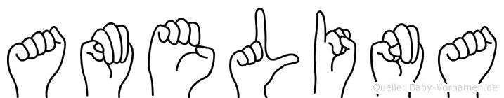 Amelina in Fingersprache für Gehörlose