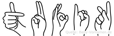 Tufik im Fingeralphabet der Deutschen Gebärdensprache