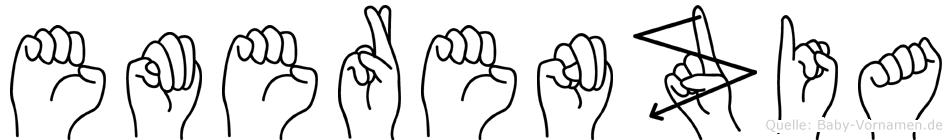 Emerenzia im Fingeralphabet der Deutschen Gebärdensprache