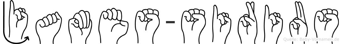 James-Sirius im Fingeralphabet der Deutschen Gebärdensprache