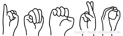 Imero in Fingersprache für Gehörlose