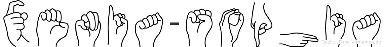 Xenia-Sophia im Fingeralphabet der Deutschen Gebärdensprache