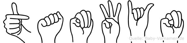 Tamwyn im Fingeralphabet der Deutschen Gebärdensprache