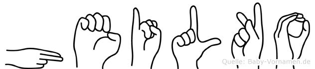 Heilko in Fingersprache für Gehörlose