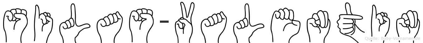 Silas-Valentin im Fingeralphabet der Deutschen Gebärdensprache