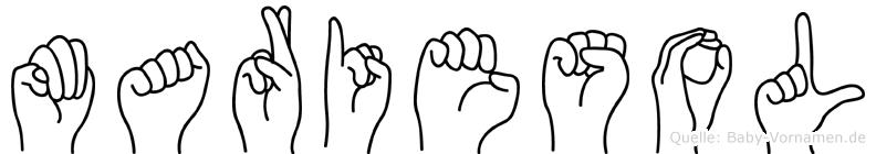 Mariesol in Fingersprache für Gehörlose