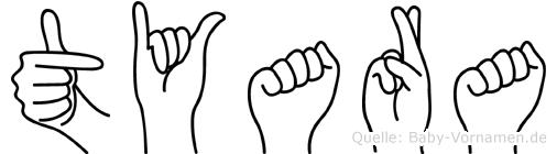 Tyara im Fingeralphabet der Deutschen Gebärdensprache