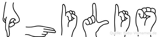 Philis in Fingersprache für Gehörlose
