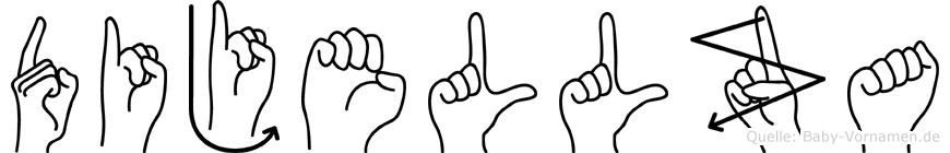 Dijellza in Fingersprache für Gehörlose