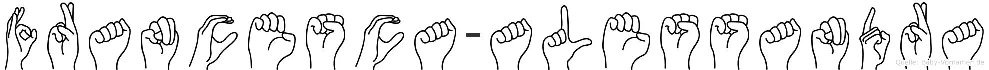 Francesca-Alessandra im Fingeralphabet der Deutschen Gebärdensprache