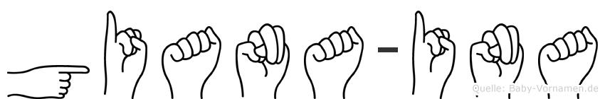 Giana-Ina im Fingeralphabet der Deutschen Gebärdensprache