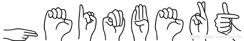Heimbert in Fingersprache für Gehörlose
