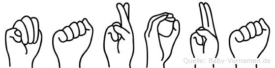 Maroua in Fingersprache für Gehörlose