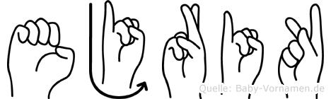 Ejrik in Fingersprache für Gehörlose