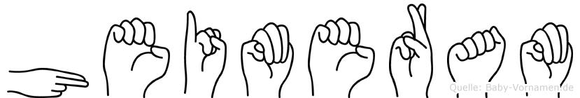 Heimeram in Fingersprache für Gehörlose