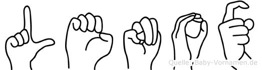 Lenox in Fingersprache für Gehörlose