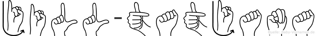 Jill-Tatjana im Fingeralphabet der Deutschen Gebärdensprache