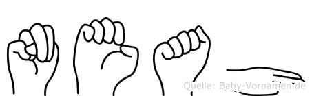 Neah im Fingeralphabet der Deutschen Gebärdensprache
