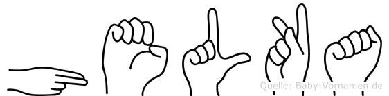 Helka in Fingersprache für Gehörlose
