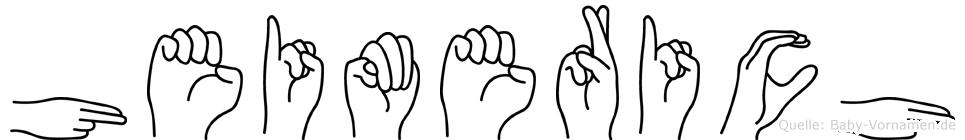 Heimerich in Fingersprache für Gehörlose