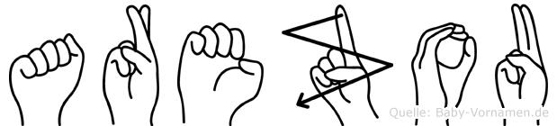 Arezou im Fingeralphabet der Deutschen Gebärdensprache