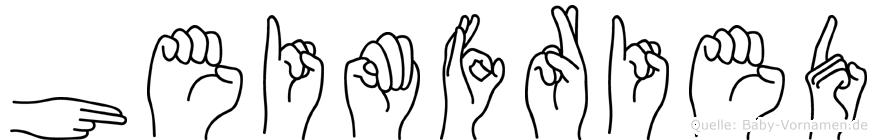 Heimfried in Fingersprache für Gehörlose