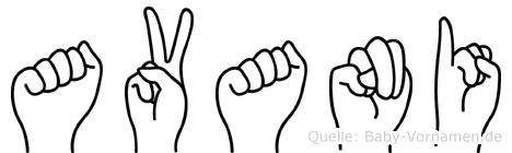 Avani in Fingersprache für Gehörlose