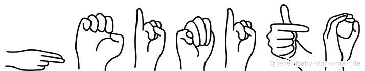 Heimito im Fingeralphabet der Deutschen Gebärdensprache