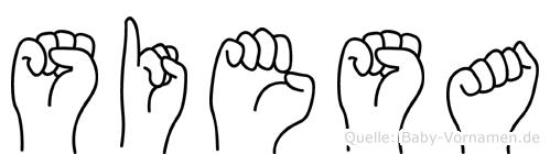Siesa im Fingeralphabet der Deutschen Gebärdensprache
