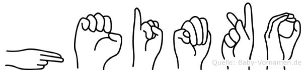 Heimko in Fingersprache für Gehörlose