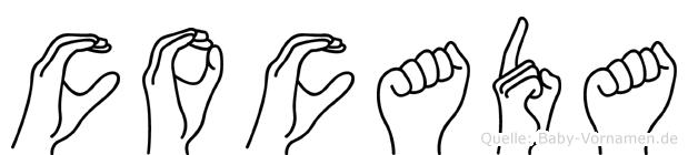Cocada im Fingeralphabet der Deutschen Gebärdensprache