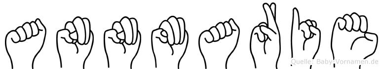 Annmarie im Fingeralphabet der Deutschen Gebärdensprache