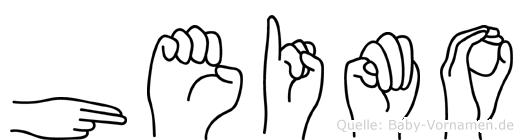 Heimo in Fingersprache für Gehörlose