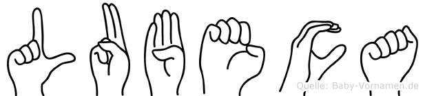 Lubeca in Fingersprache für Gehörlose