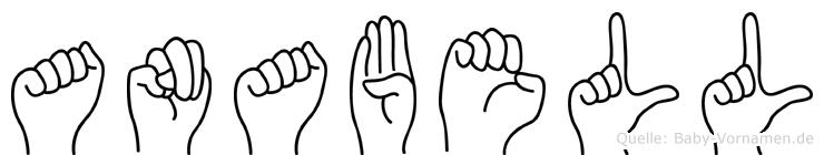 Anabell im Fingeralphabet der Deutschen Gebärdensprache