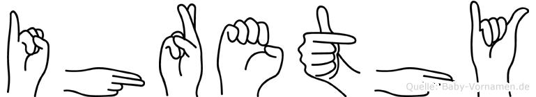 Ihrethy im Fingeralphabet der Deutschen Gebärdensprache