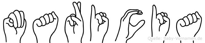 Maricia in Fingersprache für Gehörlose