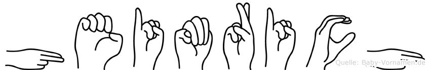 Heimrich in Fingersprache für Gehörlose