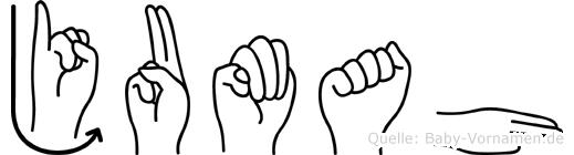 Jumah im Fingeralphabet der Deutschen Gebärdensprache
