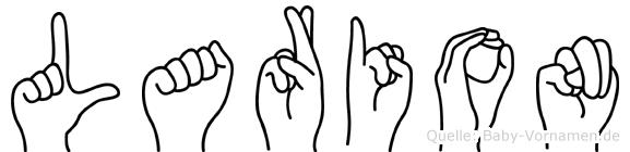 Larion im Fingeralphabet der Deutschen Gebärdensprache