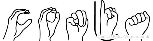 Conja in Fingersprache für Gehörlose