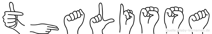 Thalissa in Fingersprache für Gehörlose