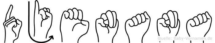 Djenana in Fingersprache für Gehörlose