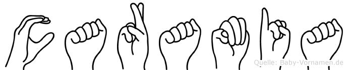Caramia in Fingersprache für Gehörlose